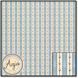 879802 Stripes Flower Blue