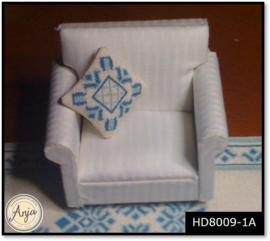 HD8009-1A Kussentje Lelie I blauw