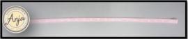 Polka dot lint roze / witte stippen L0719-2