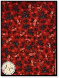 HWA701 bloemetje rood/blauw