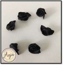 Roosjes Zwart per zes