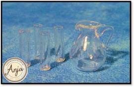 D1234 Glazen kan met 4 glazen