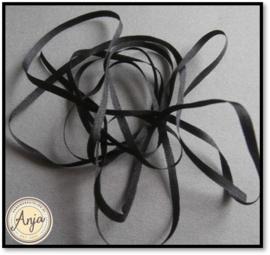 Zijdelint Zwart 3 mm
