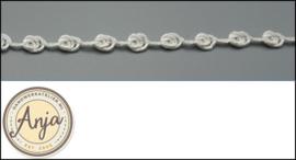 Viscose bloemenband Wit B0320-3