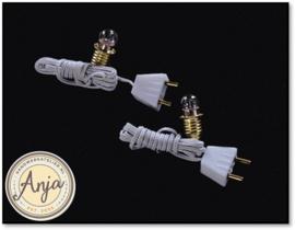 Bollampje met draad en stekker per 2 FA019011