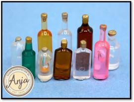 KA311 Tien gekleurde flessen