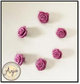Roosjes Oud roze per zes