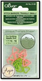 Stitch markers triangle klein voor breien