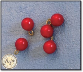 D2430 - 5 Rode kerstballen