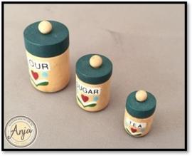 D1583 Houten voorraad potten