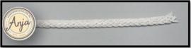 Gevlochten band wit B0719-5