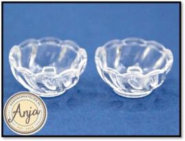 DA93 Twee glazen schaaltjes