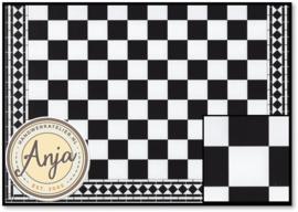 DIY059D Floor Tiles Checker Mono