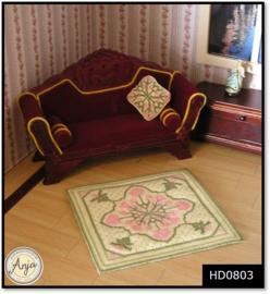 HD0803 Vloerkleed & kussenfrontje