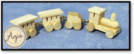 D1959 blankhouten treintje