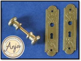 Deurknop met deurplaat HW23