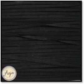 Lacetband Zwart 2 mm