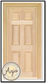 DIY001 Binnendeur blankhout