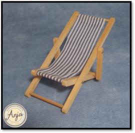 D830 Strandstoel inklapbaar blauw
