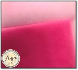 TKG2011-07 Fijne soepele tule donker roze
