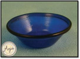 D1176 Blauwe glazen schaal