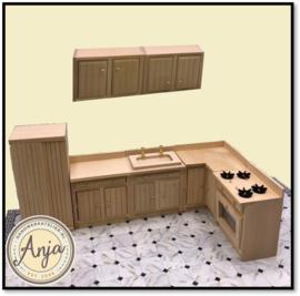 27359 Complete keuken blankhout