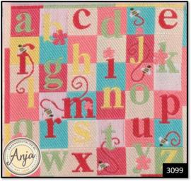 3099 - Pink Alphabet Rug
