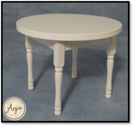 DF165 Witte ronde tafel