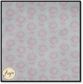 HWA848 Katoen wit met roze bloemetje