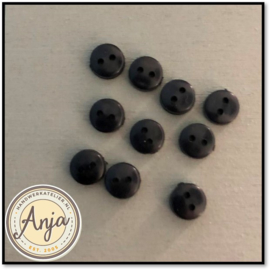 6 mm knoopjes Zwart
