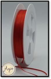 204 Red Satijn lint 1.5 mm