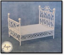 DF500 Wit metalen bed