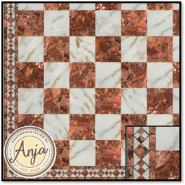 34738 White And Red Marble