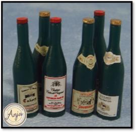 D405 - 6 Rode wijn flessen