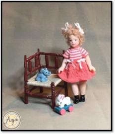 HD0416 Feestelijk jurkje voor Ankie (incl. popje)