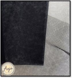 TKG2819-14 Fijne sluier tule zwart