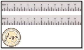 HR57010W Liniaal, 2 stuks