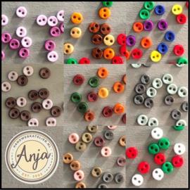 Mini knoopjes 1.5 mm, 2 mm, 2.5 mm, 3 mm, 4 mm, 5 mm, 6 mm, 10 mm