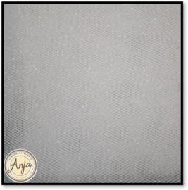 AH1106 Tule wit met glitter