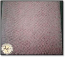 AH1107 Tule roze met glitter