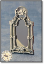 D2386 - Victoriaanse spiegel zilverkleurig