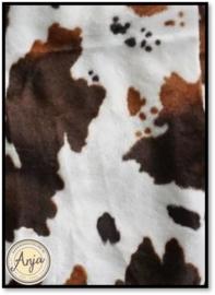 lapje  koeienprint bruin/wit(F)