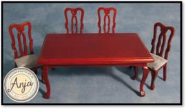DF102 Eettafel met vier stoelen