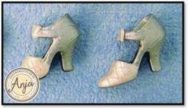 D1033F Zilveren schoenen