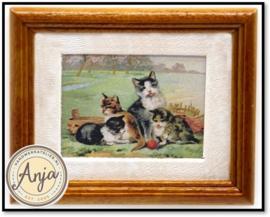 Y168 Schilderij met katten