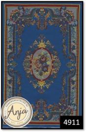 4911 Blue Floral Cameo Rug