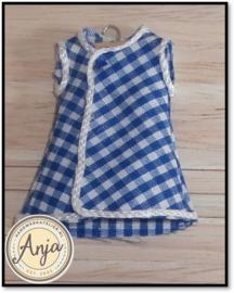KK2201 Blauw wit jurkje