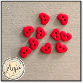 7 mm knoopjes hartjes Rood