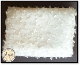 TKG2819-19 Gebroken wit viscose met werkje