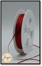 360 Dark Red Satijn lint 1.5 mm